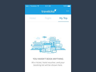 Empty reservation illustration - mobile apps app reservation booking line trip voucher ticket calendar hotel vector illustration mobile