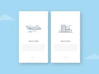 Search Flight & Hotel Illustration