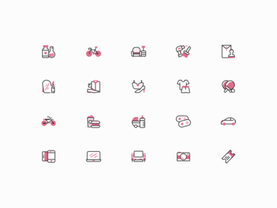 Category Icon Set branding art line ecommerce desktop app iconography category icon kit icon set icons icon
