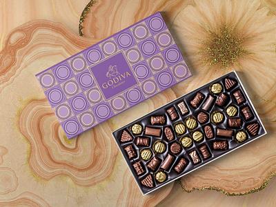 Godiva Mermaid Series (No:2 Ametyst Purple) graphic design illustraion chocolatebox chocolate packaging pattern design patterns pattern art pattern package mockup packaging packaging design packagedesign package boxes box graphicdesign design adobephotoshop adobe illustrator adobe