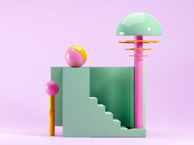 'Fairy Green Staircase' ball staircase green geometric art geometric abstract design abstract 3ddesign blendercycles blender3dart blender 3d blender3d blender 3d modeling 3d artist 3d art 3d design graphic design graphicdesign