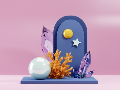 Mini Pearl House crystal 3d modelling corals coral mermaid pearls pearl underthesea blendercycles blender3dart blender3d blender 3d modeling 3d artist 3d art 3d adobephotoshop design graphicdesign graphic design