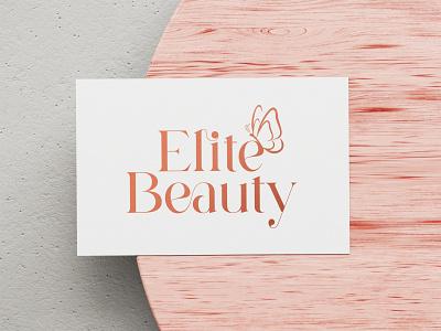 Elite Beauty Logo brandingdesign wings typography beautycenter beauty beautystudio butterflylogo butterfly adobeillustrator brand branding logodesign logo adobephotoshop adobe graphic design graphicdesign design