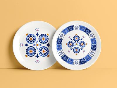 ethnic pattern design seamless geometric ethnicpattern tradinitaol blue ceramicdesign ceramic platedesign plate mosaic tile ethnic patterndesign pattern illustration adobephotoshop adobe graphic design graphicdesign design