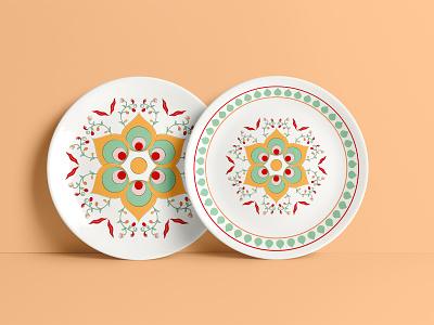 ethnic pattern design geometric mockup plate platedesign tilepattern tiledesign mosaic tile tradinitoal seamless ethnicpattern ethnic patterndesign pattern illustration adobephotoshop adobe graphic design graphicdesign design