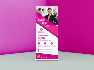 Roll-up Banner design design flyer design business card logo corporate branding design branding graphic design red rooling banner banner design rul up banner