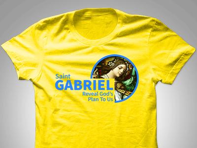 "Saint Gabriel ""Reveal God's Plan To Us"" Tshirt Design"