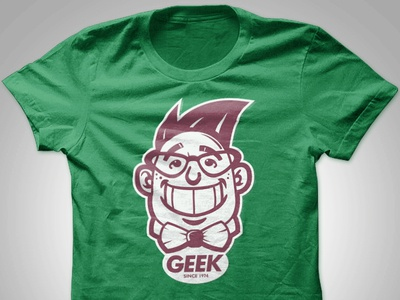 GEEK Tshirt Design - Green aris española graphic design aris philippines manila makati pinoy designer filipino apparel logo tshirt