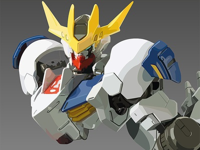 WIP of Vector Illustration of Gundam Barbatos Lupus Rex manila philippines pinoy aris design illustrator adobe vector rex lupus barbatos gundam