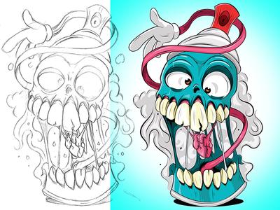 I Heart You grafitti adobeillustrator digitalart illustration adobe cartoon illustrator vector