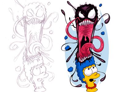 Must be the Hair... venom thesimpsons adobeillustrator digitalart illustration adobe cartoon illustrator vector