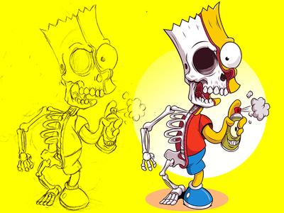 Bart Half bartsimpson thesimpsons disney adobeillustrator digitalart illustration illustrator vector