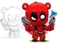 The Merc with the Hugs! marvel deadpool adobeillustrator digitalart illustration adobe cartoon illustrator