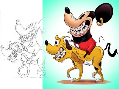 Mickey Rides mickey mouse illustration adobe disneyland disney cartoon illustrator adobeillustrator digitalart