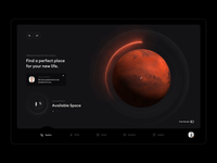 Spacefox — Gazing into the future plot house home scan retinal mars space real estate animation app vr ar clean minimal ux ui