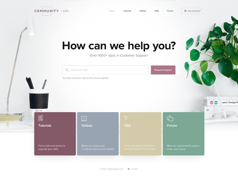 Community by UXPin lp scandinavian page landing minimal typography design uxpin webdesign web ux ui
