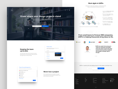 UXPin's Redesigned Dashboard collaboration website webdesign uxpin ux ui onepage minimal lp page landing dashboard