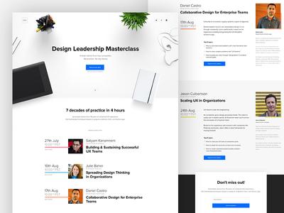 Design Leadership Masterclass webinar webdesign uxpin ux ui page onepage minimal lp landing dashboard collaboration