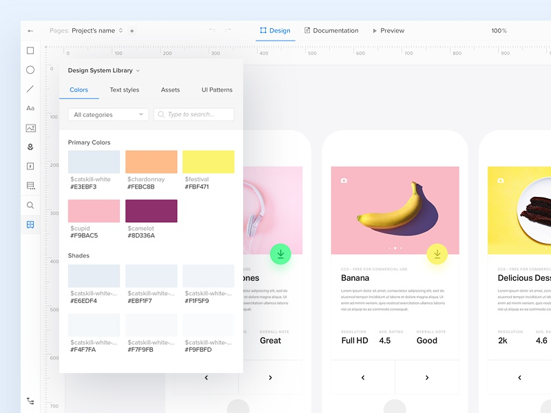 UXPin Design Systems: Consistency clean mobile colors shapes minimal design system system ui ux uxpin webdesign website
