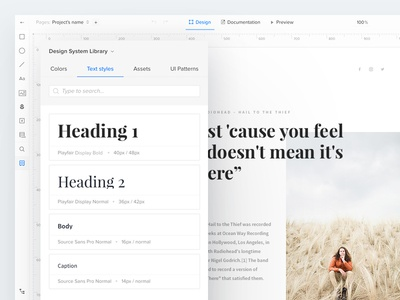 UXPin Design Systems: Typography