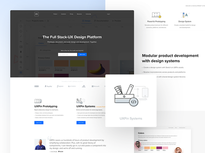 UXPin.com - Design Systems design systems system product flat home webdesign uxpin ux ui clean minimal landing