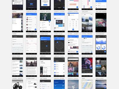 Material Design UI Kit [Free] minimal uikit interface sketch free android ux uxpin material freebie kit ui