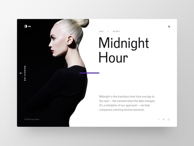 Midnight Hour landingpage minimalistic fashion scandinavian animation motion web ux ui minimal clear clean