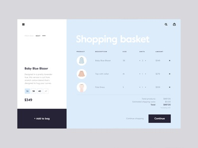 Online Store SS '18 — Product Page store web ux ui cart shop minimal e-commerce fashion animation clean checkout