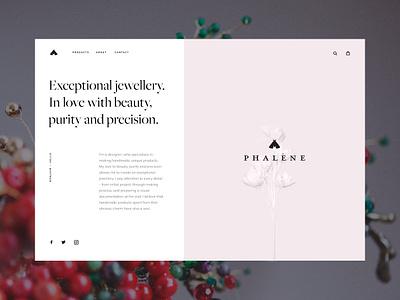 Phalene 💎 checkout hair jewellery fashion e-commerce minimal shop cart ui ux web store