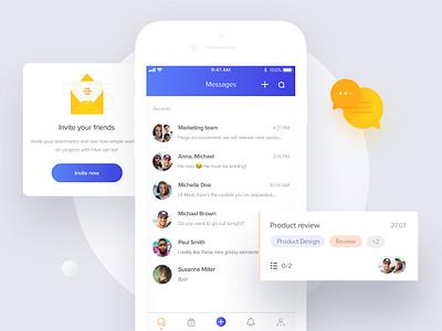Hive — The productivity platform interface management animation clean communication ios interaction mobile app ui ux