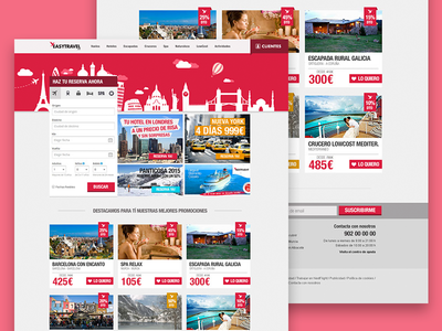 EasyTravel product designer travel ui ux freelance design layout web product designer landing homepage