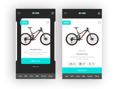 Sketching - Killing boredom buy like sport freelance design ux ui shop cart ios app bike