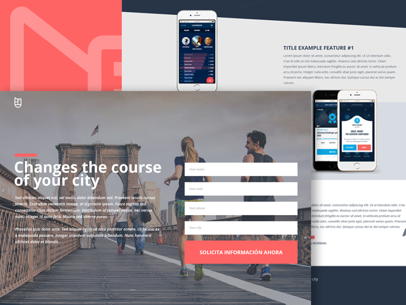 Wellness Cities by @WeFitter - Landing ux ui startup sport product design landing homepage freelance design city
