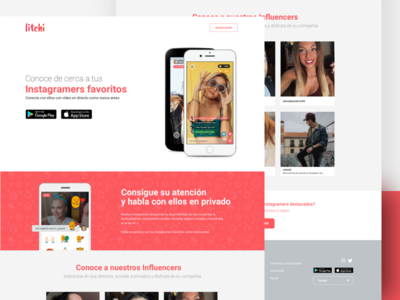 Litchi by Upclose startup freelance layout home web design ux ui landing