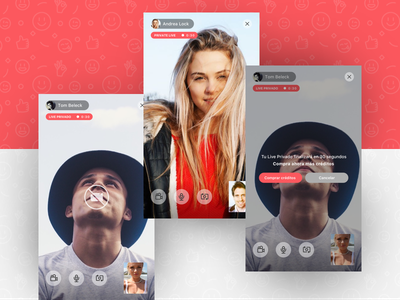 Litchi App - (1/2) streaming player video chat social ux ui ios app