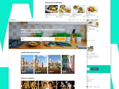 Waykeat - Discover the authentic food. product designer layout homepage freelance landing web ux ui design
