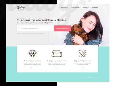 Gudog - Redesign Concept. pet product design designer web app ios startup typography header design home homepage layout landing product designer freelance ux ui design