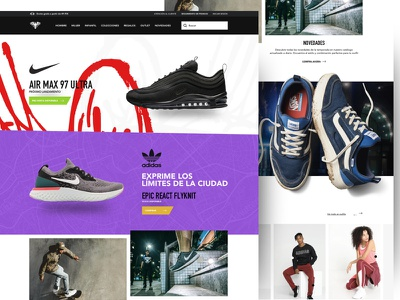Killing Boredoom v3. E-commerce homepage 1/2 fashion product design list homepage layout designer web product designer landing ux ui design