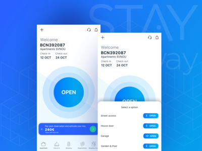 STAYmyway - Guest app product design ux ui application access app product designer