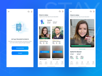 STAYmyway - Check in uiux designer product process ux ui user interface design app design checkin app