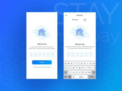 STAYmyway - Add stay travel booking stay uidesign design product ux ui add app