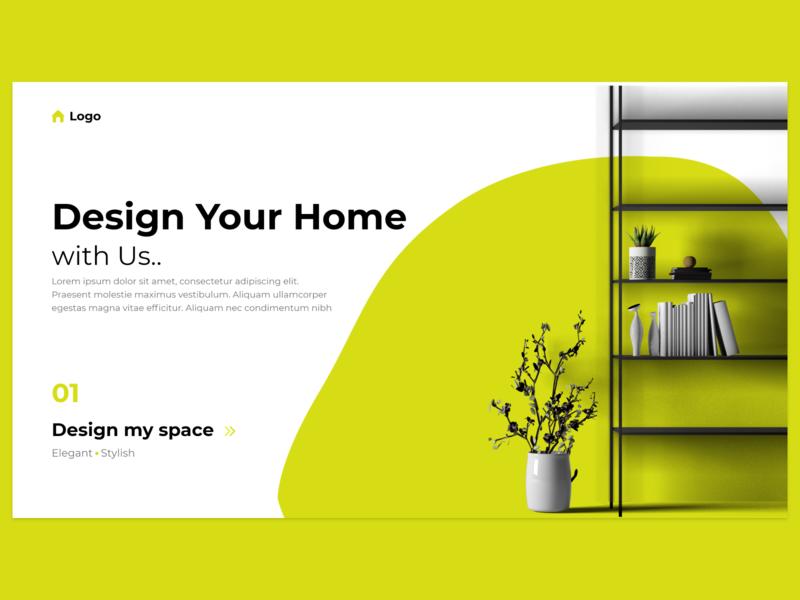 Daily UI- 012 (E-Commerce Shop) ecommerce homepage lemon furniture homedecor photoshop illustration