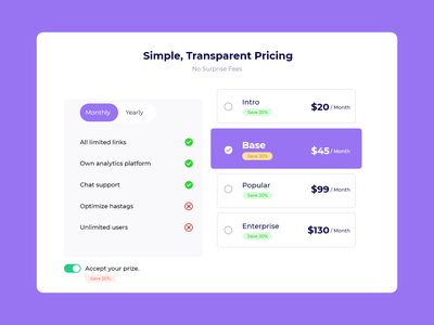 Daily Ui- 030 (Pricing) subscription dailyui-030 purple dailyuichallenge dailyui illustration package pricing