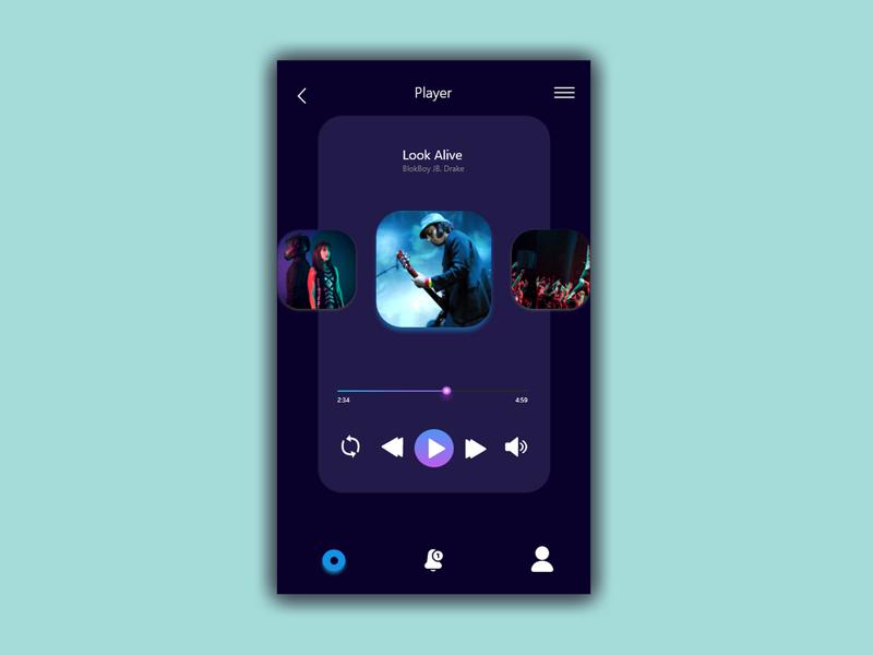 Daily UI Challenge: 009 daily ui 009 daily 100 challenge music player music app daily ui app dailyui vector icon illustration art design ux ui