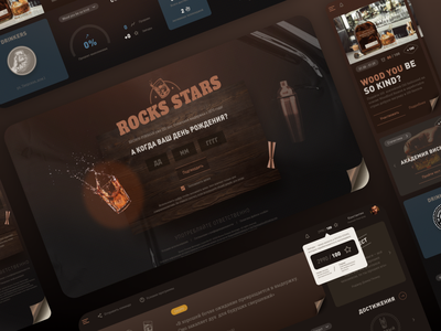 Motivation Program web design webdesign web ui ux alcool minimalism dark dashboard ui ui