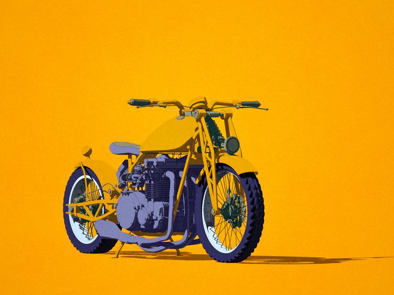 motorcycle motorcyle bike illustration