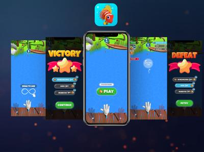 Fishing Party UI, App Icon beach icon ux ui design game vector logo illustration