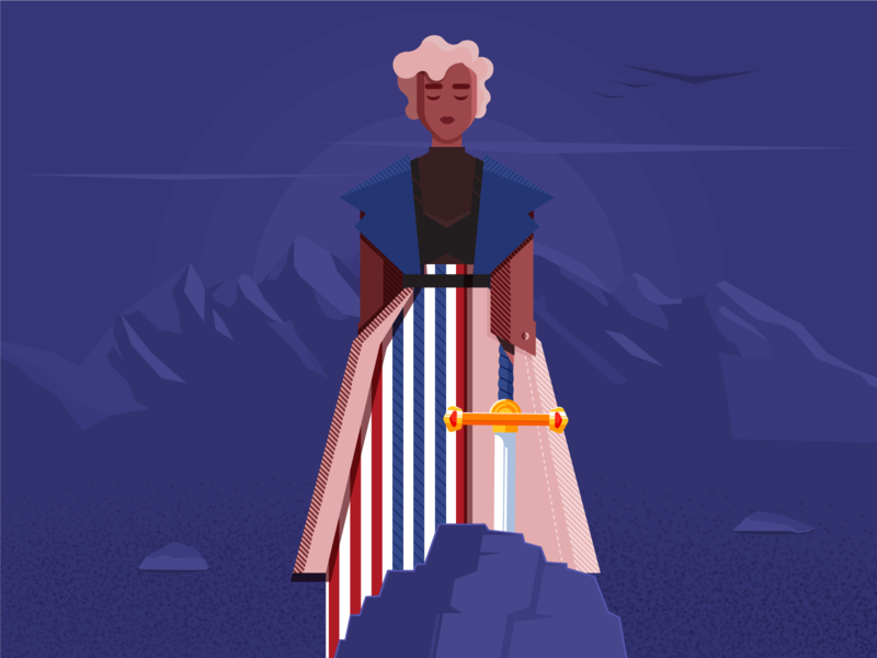 Strong Woman strongwoman strong sword womans woman illustration powerwoman power woman vector illustration