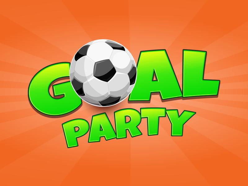 Goal Party Game Logo & Splash game splash splash branding game logo illustration