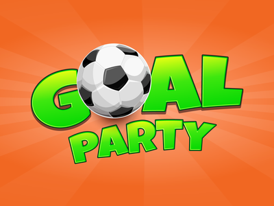 Goal Party Game Logo & Splash game splash splash branding game logo illustration